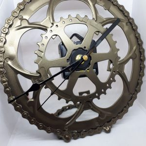 Bronze Wheel Clock
