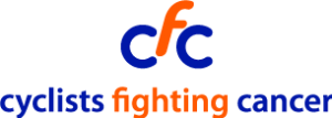 Cyclists fighting cancer logo supported by CERA cycloan