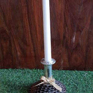 Upcycled Candle stick holder