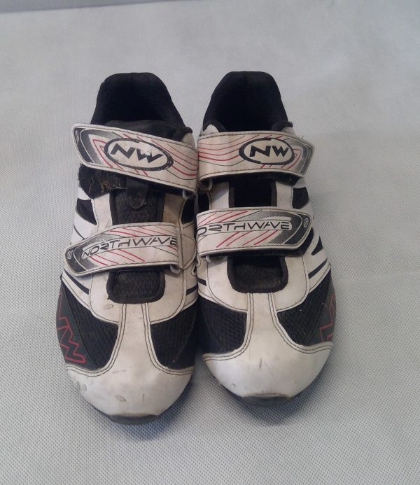 White Northwave cycling shoes