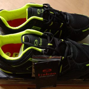 Black and yellow Tiebao SPD cycling shoes