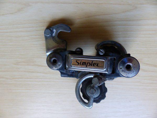 Vintage Simplex road racing short cage rear derailleur