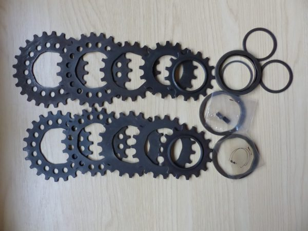 Vintage Milremo sprocket set and freewheel spares