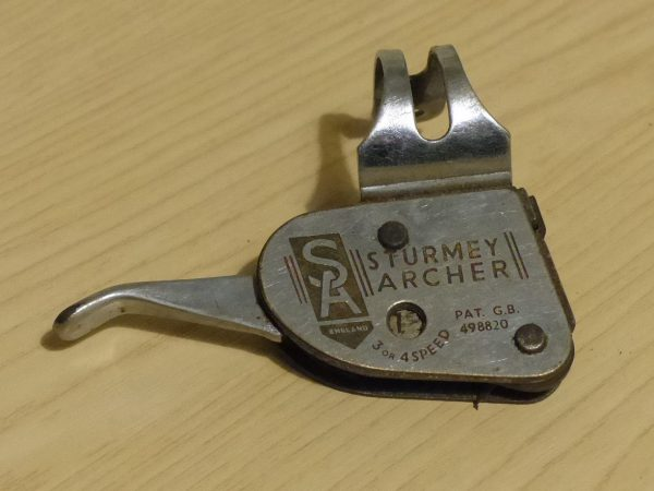 Rare retro Sturmey Archer 3 or 4-speed trigger shifter