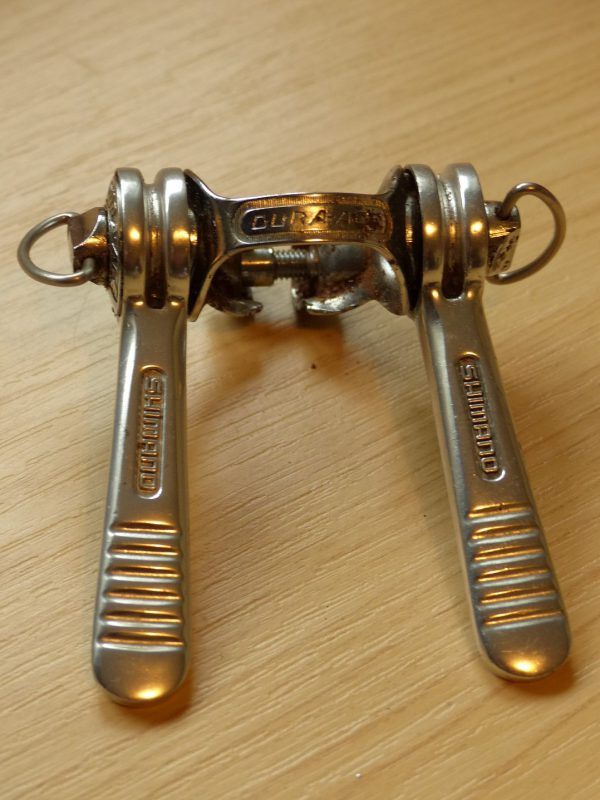 Vintage Shimano band-on double gear shifter