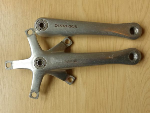 Shimano DuraAce 5-arm cranks (no rings)