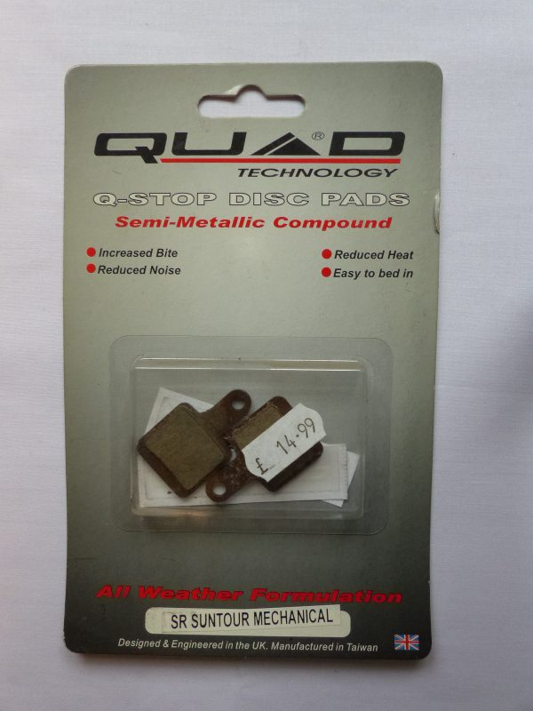 Quad Suntour SR mechanical disc brake pads