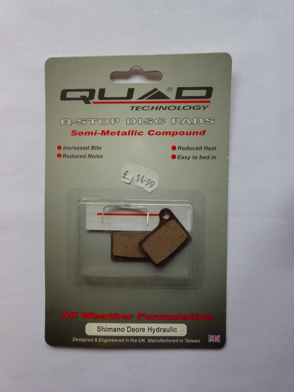 Quad Shimano Deore disc brake pads